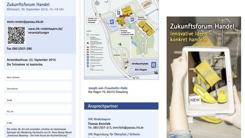 Zukunftsforum Handel, 30. September 2015 in Straubing