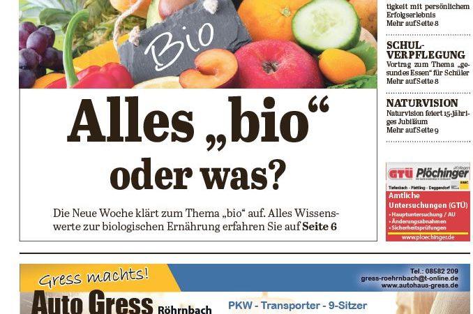 'Die Neue Woche', Ausgabe KW 20/16