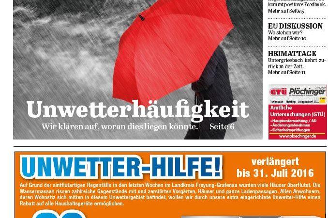 'Die Neue Woche', Ausgabe KW 28/16