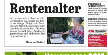 'Die Neue Woche', Ausgabe KW 36/16