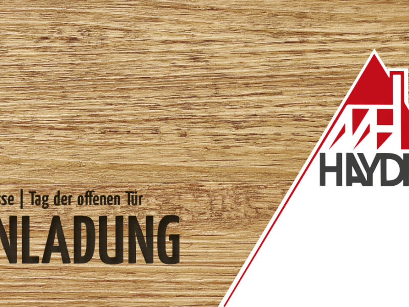 Messe Komplettpacket Matthias Haydn Holzbau