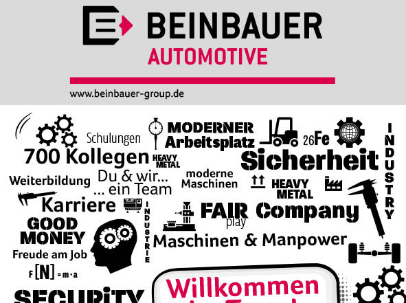 Rollup Displays für internationale Messe in CZ der Fa. Beinbauer Automotive